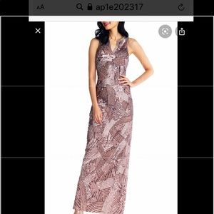 Adriana Papell brand new sequins dress